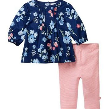 Offspring | Mixed Bouquet Woven Tunic & Leggings Set (Baby Girls)