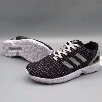 Adidas Zx Flux Women Men Running Sport Casual Shoes Sneakers Black Sliver G A36h My