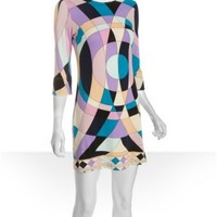 JB by Julie Brown bullseye geometric jersey 'Maggie' three-quarter sleeve dress at Bluefly