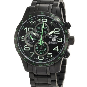Invicta 0594 Men's Reserve Swiss Black Ion Plated Chronograph Automatic Watch