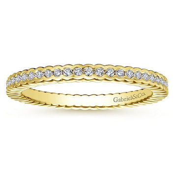 14K Yellow Gold Half Bezel Set Diamond Eternity Band