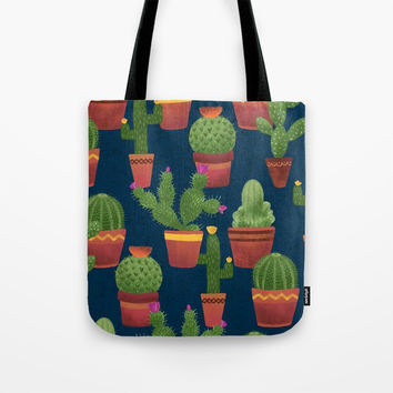 Terra Cotta Cacti Tote Bag by Noonday Design