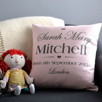 Christening New Baby Cushion Cover