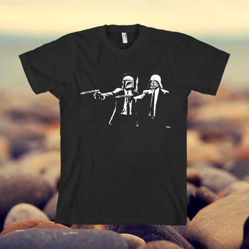 Pulp Fiction Star Wars design clothing for T-shirt mens and T-shirt girls