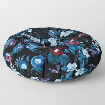 Night Garden XXXII Floor Pillow by burcukorkmazyurek