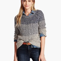 Lucky Brand Marled Ombre Pullover Womens - Navy Multi