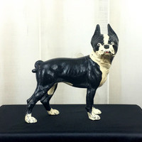 Antique Cast Iron Hubley Boston Terrier Dog Door Stop - Dog Lover Gift, Gift for Him, Gift for Her, Christmas Present