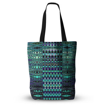 "Nina May ""New Kilim Seafoam"" Teal Everything Tote Bag"