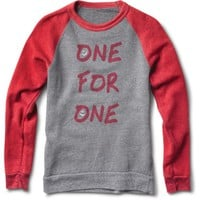 Women's Smiley Grey and Red Crewneck Sweatshirt