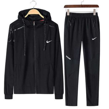 One-nice™ NIKE Sports suit, a long sleeve jacket, leisure sports training clothes two piece