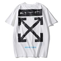Trendsetter Off White Women Men Fashion Casual Shirt Top Tee