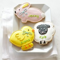 Personalized Giant Easter Cookies
