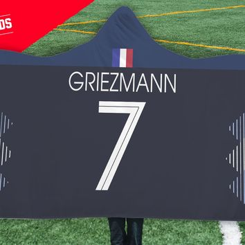 Griezmann France Home Jersey 2018 Hooded Blanket - FIFA World Cup