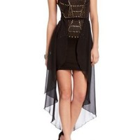 Amazon.com: 2B Love Studded High Low Dress: Clothing