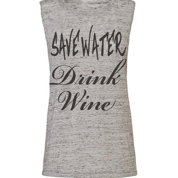 save water drink wine, workout tank, womens tank, workout womens, workout shirts, workout clothes, gym tank, womens clothes, ladies tank