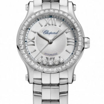 Chopard - Happy Sport Automatic - Round Mini 30mm - Stainless Steel and Diamonds