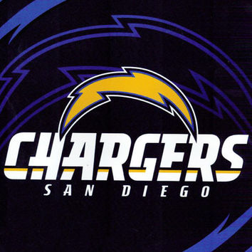San Diego Chargers King NFL Blanket - Free Shipping in the Continental US!