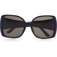 The Row Square-frame leather-trimmed acetate sunglasses – 57% at THE OUTNET.COM