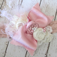 Rock A Bye Baby Pink Vintage Style Headband