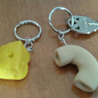 Set of 2 best friends keychain you're the cheese to my macaroni gift for best friends forever Mac and cheese keychain