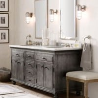 Zinc Double Vanity Sink | Zinc | Restoration Hardware