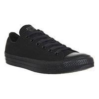 Converse All Star Low Black Mono Canvas - Unisex Sports