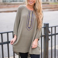 Run Away With Me Top, Olive