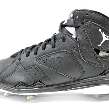 Jordan Men's Retro 7 Metal Black/White Baseball Cleats 684943 010