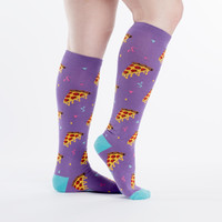 Pizza Party Knee High Socks