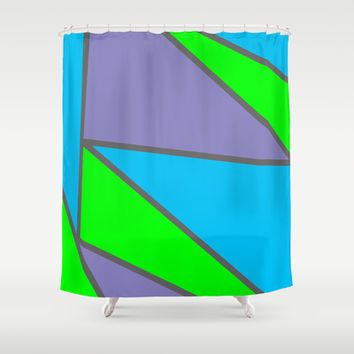 Initial There Shower Curtain by Kat Mun