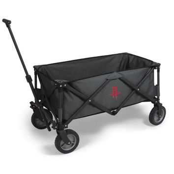 Houston Rockets - 'Adventure Wagon' Folding Utility Wagon by Picnic Time (Dark Grey)