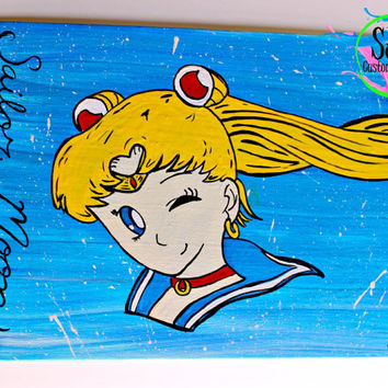 Sailor Moon Wall Decoration: flat or stretched canvas.