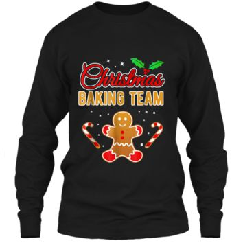 Christmas Baking Team Gingerbread Man  LS Ultra Cotton Tshirt