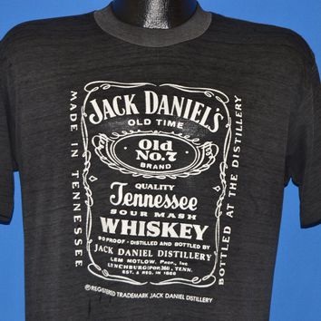 80s Jack Daniels Tennessee Whiskey Label t-shirt Large