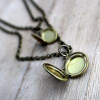 Double Stranded Locket Necklace