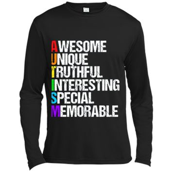 Awesome Autism T-Shirt Long Sleeve Moisture Absorbing Shirt