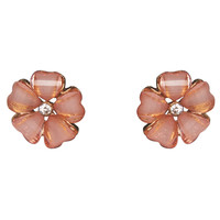 Shimmer Flower Button Earrings | Wet Seal