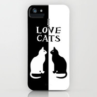 OPPOSITES LOVE: CATS iPhone Case by Alice Gosling | Society6