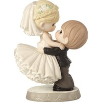 """Best Day Ever"" Wedding Cake Topper Bisque Porcelain Figurine"