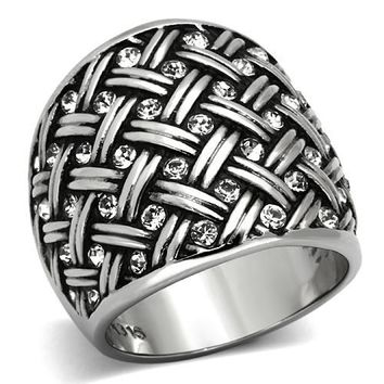 Evasia Barrel Silver Ring