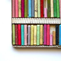 Color Your World - Vintage Oil Pastels - Set of 60 Pastels Made in Japan - Mid Century