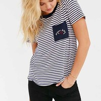 Truly Madly Deeply Bonjour Baby Ringer Tee