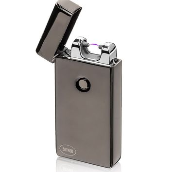 Bryner Electronic Lighter USB rechargeable Electric lighter, Windproof Arc lighter, Windproof Cigarette Lighter Best Selling Don't Flick Your Bic!