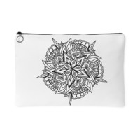 Black & White Mandala Makeup Bag