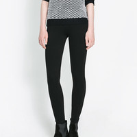OTTOMAN LEGGINGS - Trousers - Woman | ZARA United States
