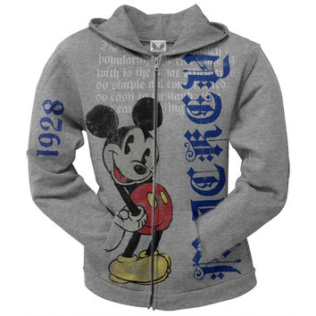 Mickey Mouse - Poetry Juniors Zip Hoodie