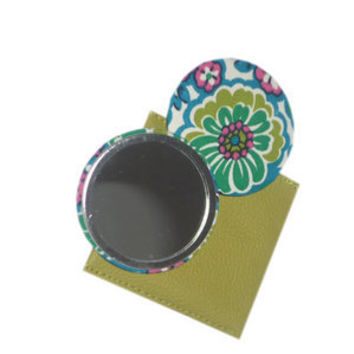 Vintage Fabric Mirror - green multi
