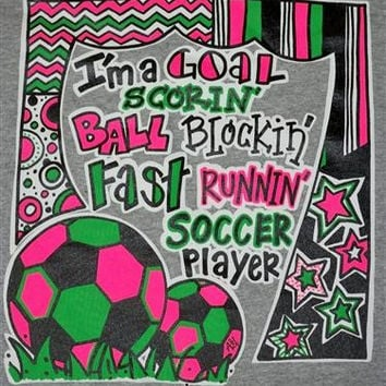 Southern Chics Funny Ball Block Soccer Chevron Sweet Girlie Bright T Shirt