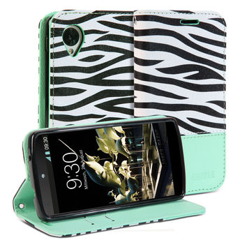 Wallet Case Zebra for Google Nexus 5