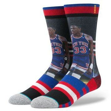Stance NBA Legends Men's Crew Socks - Patrick Ewing Trading Card -  L/XL (9-13)